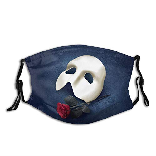 Rockfeeltee Adult Fashion Sport Masks The Phantom of The Opera Unisex Cotton Face Masks 1 Pcs Black
