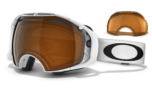 Oakley Airbrake Masque de Ski/Snow Polished White Black Iridium/Persimmon
