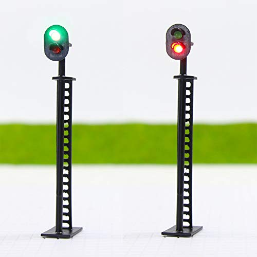 Evemodel JTD01 Neu 5 STK. Ampeln LED Signal Lichtsignal 85mm 12V rot/grün H0 / 00