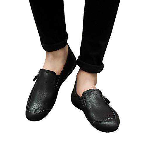 Quaan Männer Solide Farbe Runden Zehe Nähen Eben Hacke Flach Mund Leder Schuhe Büro Runder Zeh beiläufig Schuhe Strand rutschfest Licht atmungsaktiv Einfach Aussicht Persönlichkeit