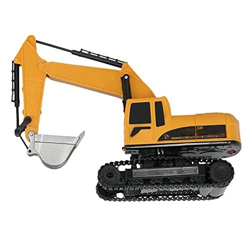 KUIDAMOS Vehículo excavador de Control Remoto, Juguete de vehículo excavador a Escala 1:24 para jardín para niños