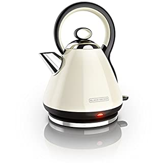 BLACK+DECKER Kettle, Dome Style Heritage Design, Stainless Steel, Cream, 1.7L, KE2900CRC (B0759FFNJY) | Amazon price tracker / tracking, Amazon price history charts, Amazon price watches, Amazon price drop alerts