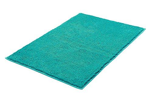 Kleine Wolke 4018672519 Kansas Tapis de Bain Coton Turquoise 60 x 90 x 1,5 cm