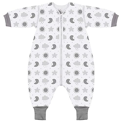 Lictin Saco de Dormir para Bebés- Saco de Dormir Bebe Niños con Mangas Extraíbles, Saco de Dormir Bebé Invierno de Material para 36-54 Meses de 85-105 cm