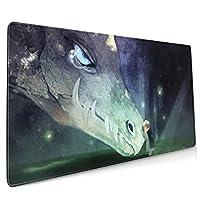 アニメファンタジードラゴン マウスパッド 40×90 大判 ノンスリップ 防水 ゲーミング おしゃれ マウスの精密度を上がる
