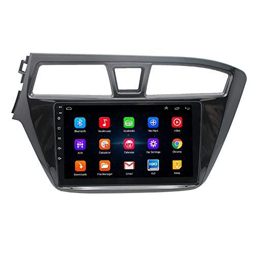 HP CAMP Android 9.1 8 Core 32G 64G navegación GPS para Hyundai I20 2015-2018, Autoradio con CarPlay/DSP/Cámara Trasera, GPS/BT 5.0 / SWC/FM Am RDS/Enlace Espejo,4g WiFi 2g+32g