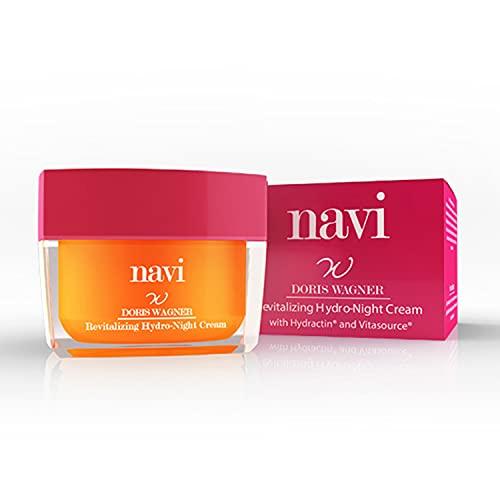 Navi Gesichtscreme,Anti-Age Nachtcreme Mit Hyaluron FüR Jede Haut, Revitalizing Hydro-Night Cream, Feuchtigkeitscreme, Anti-Aging Gesichtsmaske Hyaluron , (50 Ml) Made In...
