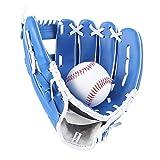 Gant de Baseball Gant de Baseball de Base-Ball des Enfants Adolescents équipement de Softball Adulte étudiants en éducation Physique Ont voté des Gants (Couleur : Bleu, Size : 10.5 inch)