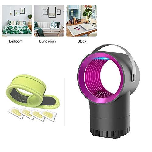Regiingsoldiers 5 W elektrische muggenlamp voor binnen, met uv-licht, muggenbeschermingslamp voor binnen en buiten + armband tegen muggen Wit.