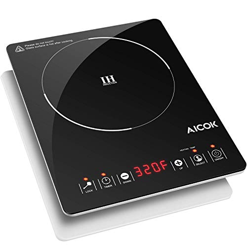 Portable Induction Cooktop 15 Temperature Power Setting, Waterproof, Hot Plate with LCD Sensor Touch, with Safety Lock, Timer