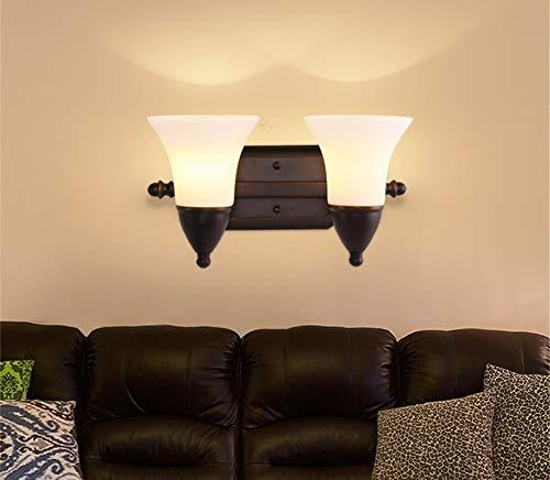 YLCJ Amerikaanse LED-wandlamp voor de badkamer, met spiegel, glazen wandlampen, voor creatieve hotel, bedlampje (editie: B-220V)