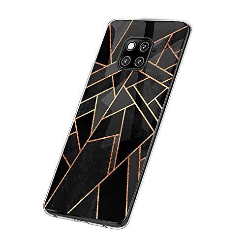 Huawei Mate 20 Pro Case Handyhülle para Huawei Mate 20/ Mate 20 Pro Silikon Crystal Tasche Cover TPU Schutzhülle Clear Transparent Backcover (6, Huawei Mate 20 Pro)