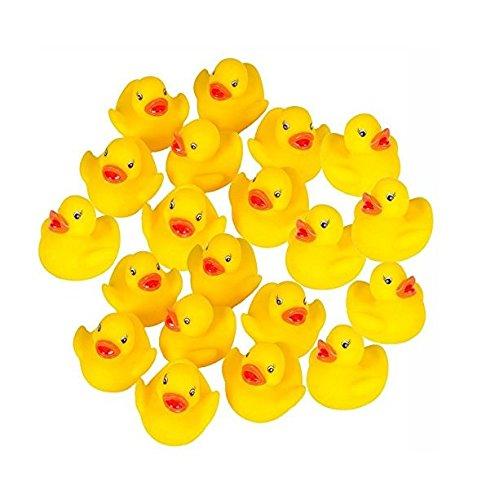 Milopon 60x Gummiente Quietsche Ente gelb Quietscheente Badeente Bade Ente Enten Badeenten Gummienten für Baby Dusche Spielzeug 3.8*4*3.5cm
