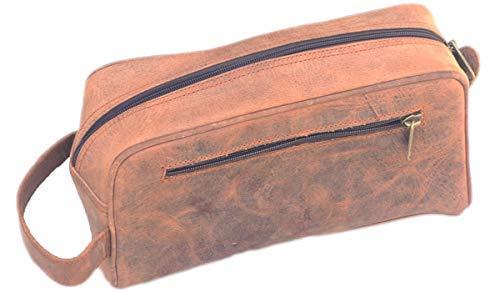 Best Buy 10 inch Canvas Travel Toiletry Bag Mens Dopp kit -Hanging Cosmetic Organizer for Men | Large Portable Bathroom Accessories Kit | Hygiene Shaving bag