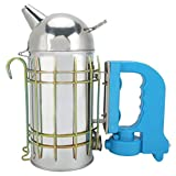 Stainless Steel Beehive Smoker with Heat Shield, Safe and Easy to Use Stainless Steel Beehive Smoker, for Beginner Farm Experienced Beekeepers