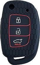 Keycare® Silicone Key Cover for Hyundai Grand i10 Nios with flip Key (Black)