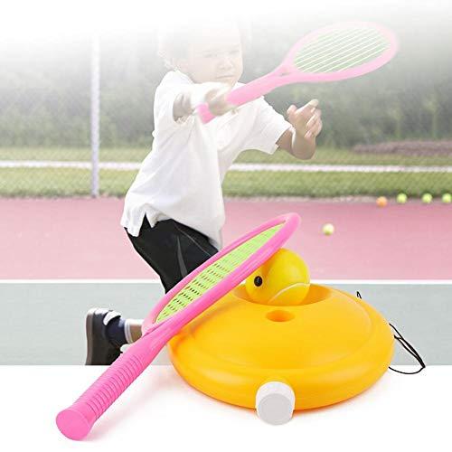 Tennis Ball Trainer, Tennis Trainer Training Herramienta de Tenis Tennis Ball Trainer, Rebounder con Traning Ball Baseboard Cuerda Larga para niños Juventud Principiante Práctica