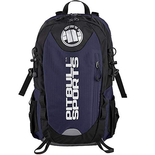 Pit Bull West Coast Outdoor Rucksack PB Sports Blau - Backpack für Wandern, Biken und Sport mit Regenponcho