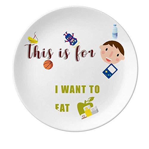 Eat Fruits Desire Life - Plato redondo de porcelana, diseño de chica