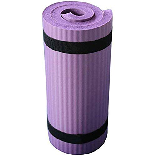 Yoga Knee Mat Cushion – Best Exercise Knee Pad - Eliminate Pain During Yoga or Exercise - Extra Padding & Support for Knees, Wrists, Elbows - Complements Your Yoga Mat - 0.6inch Thick (Purple)