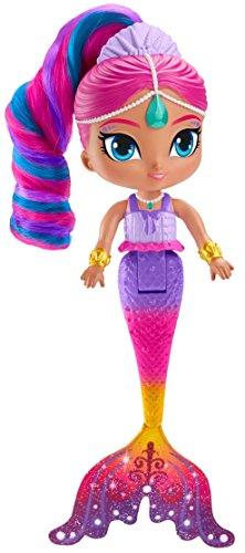 Shimmer and Shine Muñeca Shimmer Sirena mágica, juguete +3 años (Mattel FHN41)