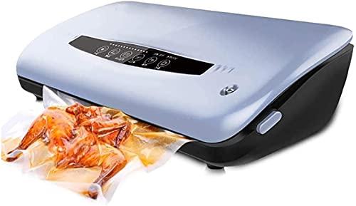 WSVULLD Máquina de sellador de vacío, sellador de alimentos automático para ahorradores de alimentos con kit de inicio |Luces indicadoras LED |Fácil de limpiar |Modos de comida seca y húmeda |Diseño c