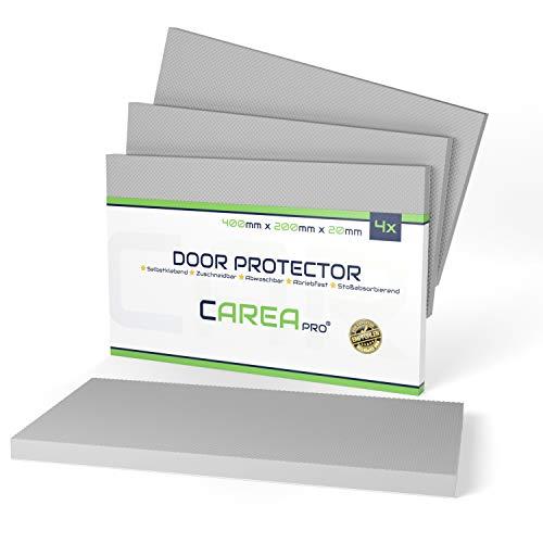 CAREApro® Garagen Wandschutz (4er, 2cm Stark) - Extra Dick & Selbstklebend - Türkantenschutz Auto