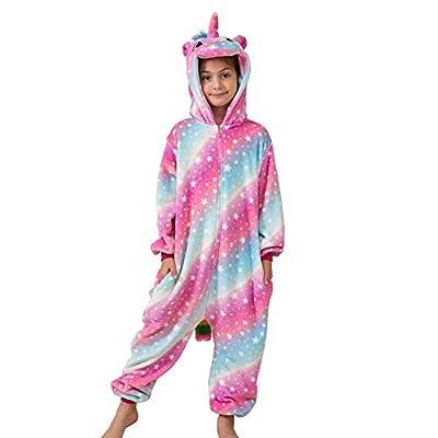 Ruiuzioong Pijama de unicornio para niños, unisex, para niños y niñas