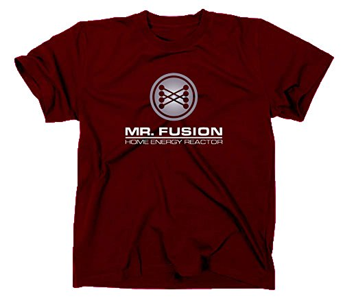 Mr Fusion T-Shirt Flux Kompensator Back to The Future Zurück in die Zukunft, XXL, Maroon