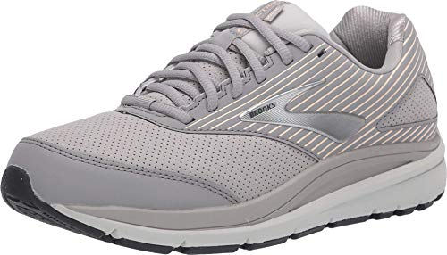 Brooks Addiction Walker Suede Alloy/Oyster/Peach 10