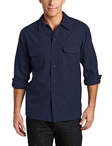 Pendleton, Men's Long Sleeve Classic-fit Board Shirt, Navy Mix, Medium