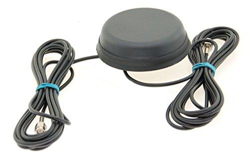Alda PQ Antena para Montaje en Techo para 2G (gsm), 3G (UMTS), GPS, GLONASS, WiFi/Bluetooth con SMA/M Enchufe y 2,5m Cable 2,2 dBi Ganancia