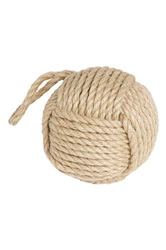 HEITMANN DECO Fermaporta in iuta, con corda, nodo, con pratico passante, fermaporta, sfera rotonda, colore naturale