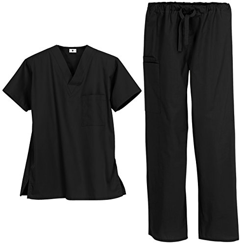 Strictly Scrubs Unisex Medical Uniform Set (Medium, Dove)