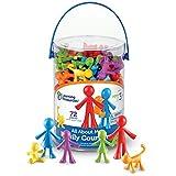 Learning Resources- Figuras de la Familia All About, Juego de 72, Color (LER3372) , color, modelo surtido