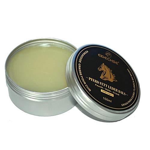 Bálsamo para recolorear cuero de 100 ml Herramienta de crema para reparación de cuero Renovar Restaurar Reparación para uso con rayones descoloridos para asientos de automóvil Sofá para el hogar