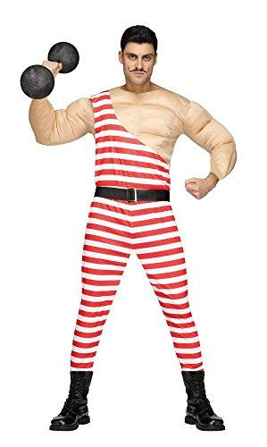 shoperama Lustiges Gewichtheber Herren-Kostüm mit Muskeln Gr. M/L Schausteller Zirkus Artist