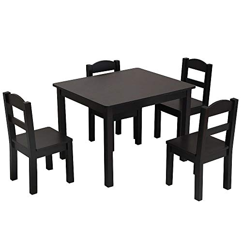 Aike Home Kids Table and Chair Set (4 Chairs Included) ,Toddler Table for 3-7 Years, Playroom Furniture, Picnic Table w/Chairs, Dining Table Set