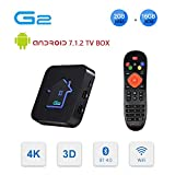 Android TV Box 7.1.2, GT MEDIA G2 Android Smart TV Box Quad-Core【2GB +16GB】, 3D 4K H.265 WiFi 2.4Ghz Ethernet USB 2.0, Soporte Dolby HDMI DLNA Netflix Xtream Stalker Widevine GT Player