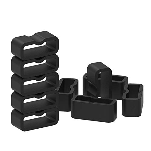 Fastener Rings Compatible with Garmin Vivosmart 3 Vivosmart 4/Vivofit 3 Vivofit 4/Vivofit Jr.3 Vivofit Jr.2 Bands Rubber Replacement Band Keeper Loop Security Holder Retainer Ring