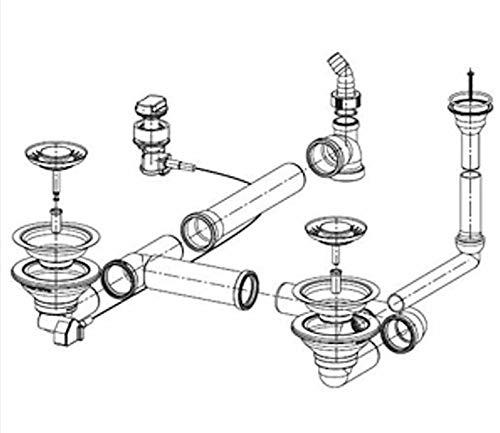 Y desagüe para fregadero FRANKE PAMIRA PMG 654 y PAMIRA PMX-E(producción antes de 2004)/repuesto fregadero/desagüe