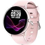Smartwatch,Reloj Inteligente para Mujer con Termómetro,Monitor de Frecuencia Cardíaca,Pulsómetro,Recordatorio del Ciclo Fisiologico,8 Mode Deporte,Pulsera Actividad Inteligente para Android iOS (Rosa)