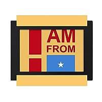 私はソマリアから来ました デスクトップフォトフレーム画像ブラックは、芸術絵画7 x 9インチ