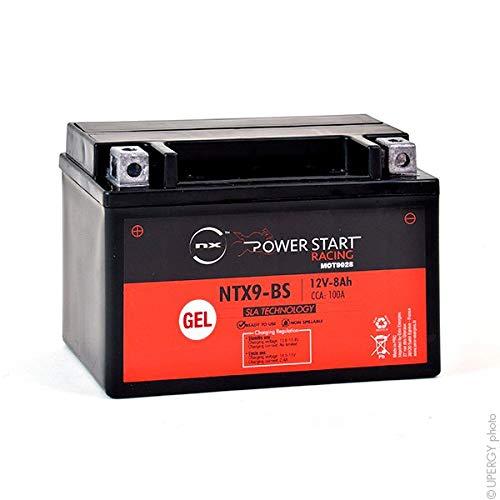 NX - Batería Moto Gel YTX9-BS / FTX9-BS / WP9BS 12V 8Ah