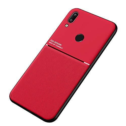 Kepuch Mowen Case Capas Placa de Metal Embutida para Xiaomi Redmi Note 7/7Pro - Vermelho