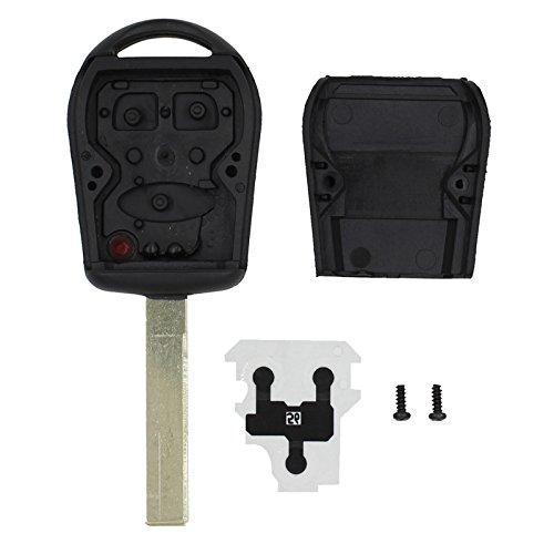 Keyfobworld 3 boutons de remplacement pour Land Range Rover Sport Clé télécommande Coque