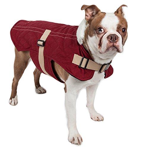 Touchdog Original Sherpa-Bark Designer Fashion-Forward Hundemantel, Large, dunkelrosa