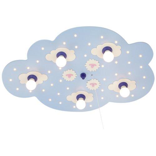 Elobra plafondlamp schapenwolk, lichtblauw 124239