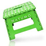 NATUMO® Premium Tritthocker Klapphocker 150kg - Faltbar Küchenhocker Klapptritt Bad-Hocker Klappbar Garten Klappstuhl Kindertritt Aufstiegshilfe Waschbecken Für Kinder Erwachsene (Grün)