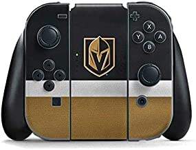 Skinit Decal Gaming Skin for Nintendo Switch Joy Con Controller - Officially Licensed NHL Vegas Golden Knights Jersey Design